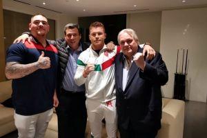 De campeón a campeón: 'Canelo' Álvarez ya está en la Diriyah Arena apoyando a Andy Ruiz