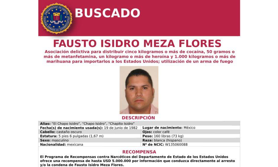 """EEUU ofrece millonaria recompensa por la captura del narco mexicano """"El Chapo Isidro"""""""