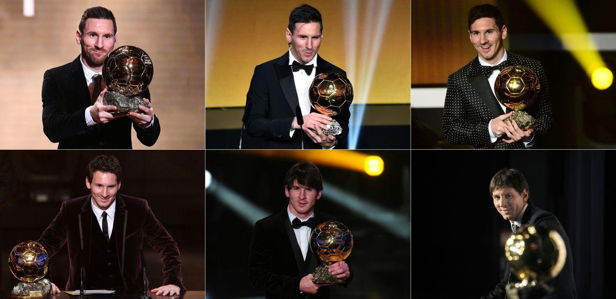 Lionel Messi llegó a 6 Balones de Oro.