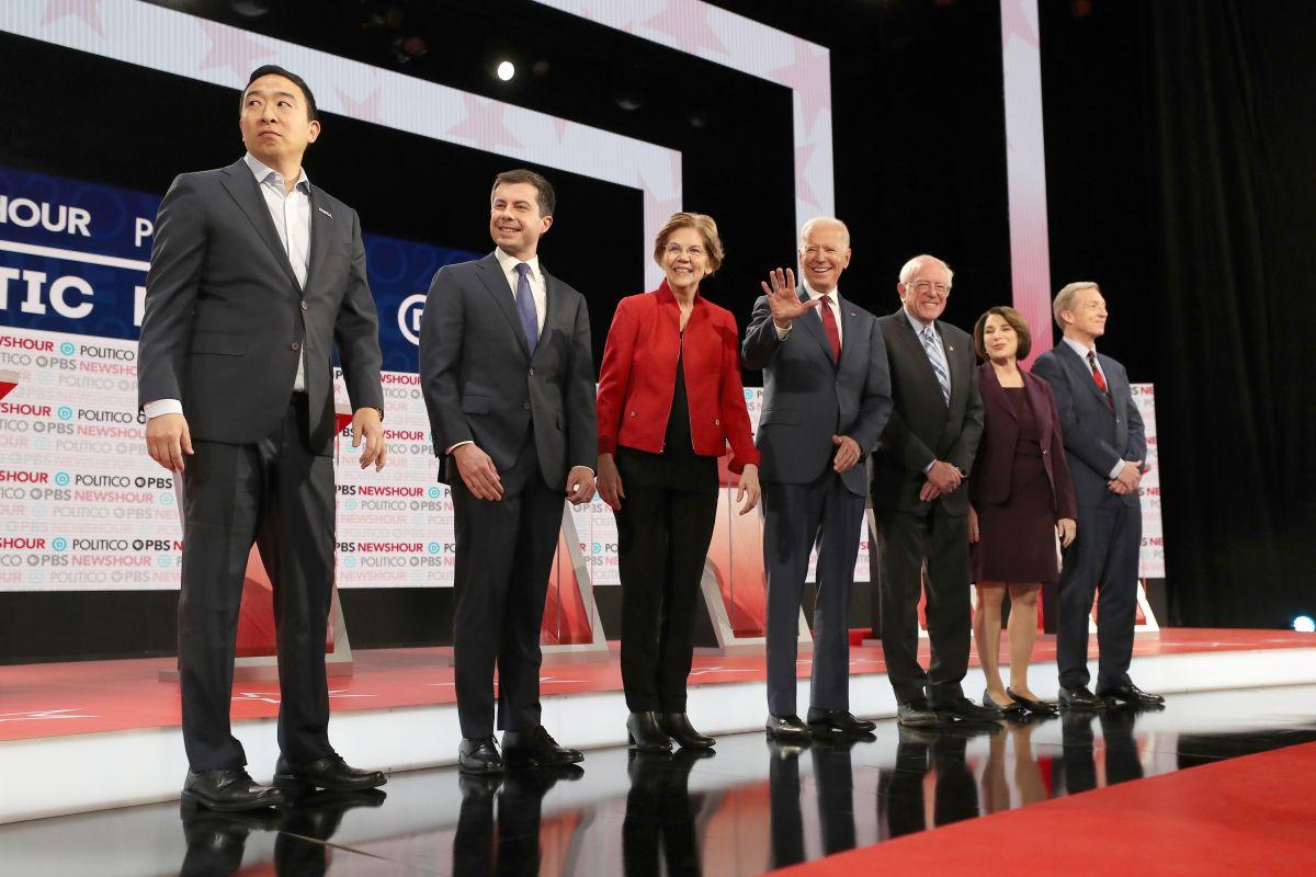 Debate demócrata en Los Ángeles, California, el 19 de diciembre de 2019.