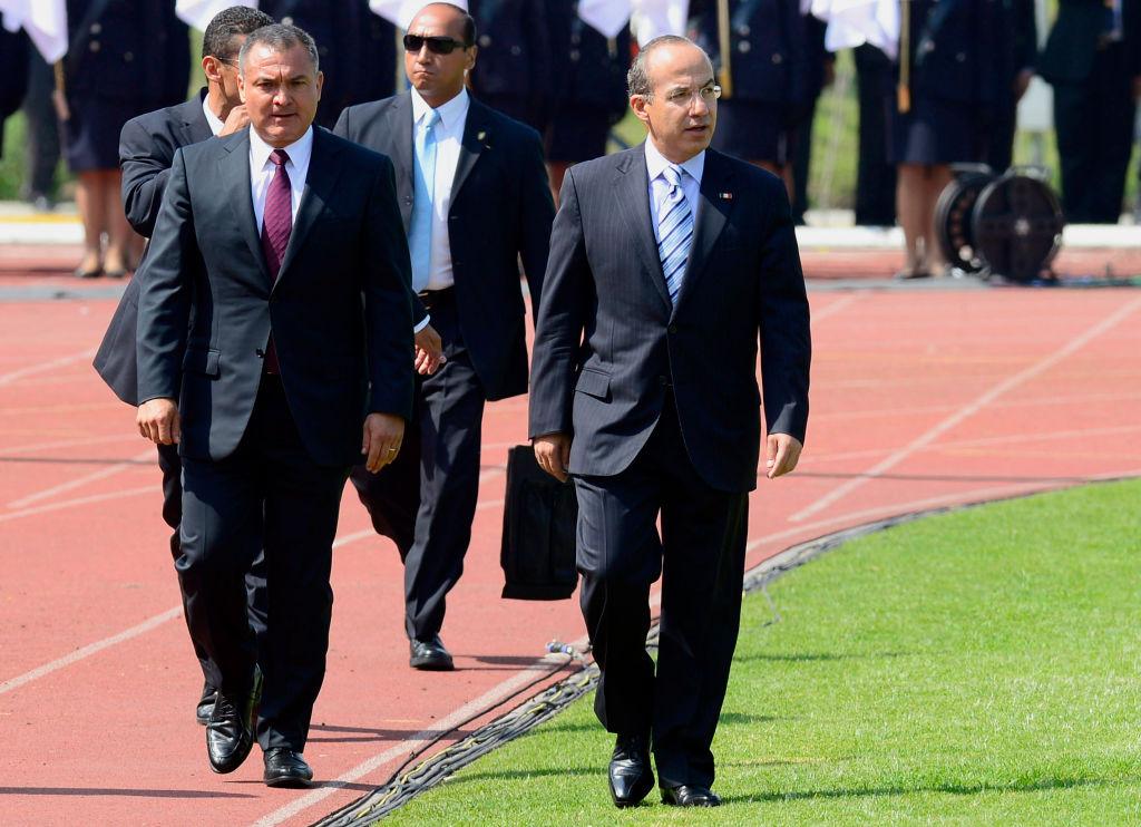 Genaro García Luna y el expresidente Felipe Calderón.