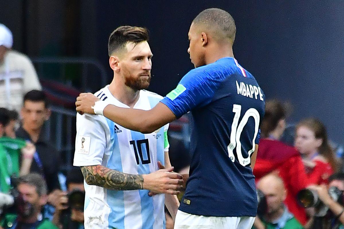 A Kylian Mbappé le emociona que Lionel Messi lo tenga en la mira