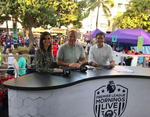 Cientos de aficionados de la Premier League disfrutan del mejor fútbol inglés en Miami Beach