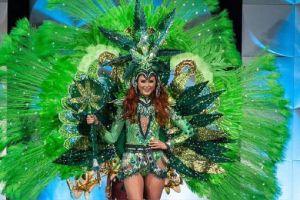 Miss Canadá causó polémica con traje de hojas de marihuana