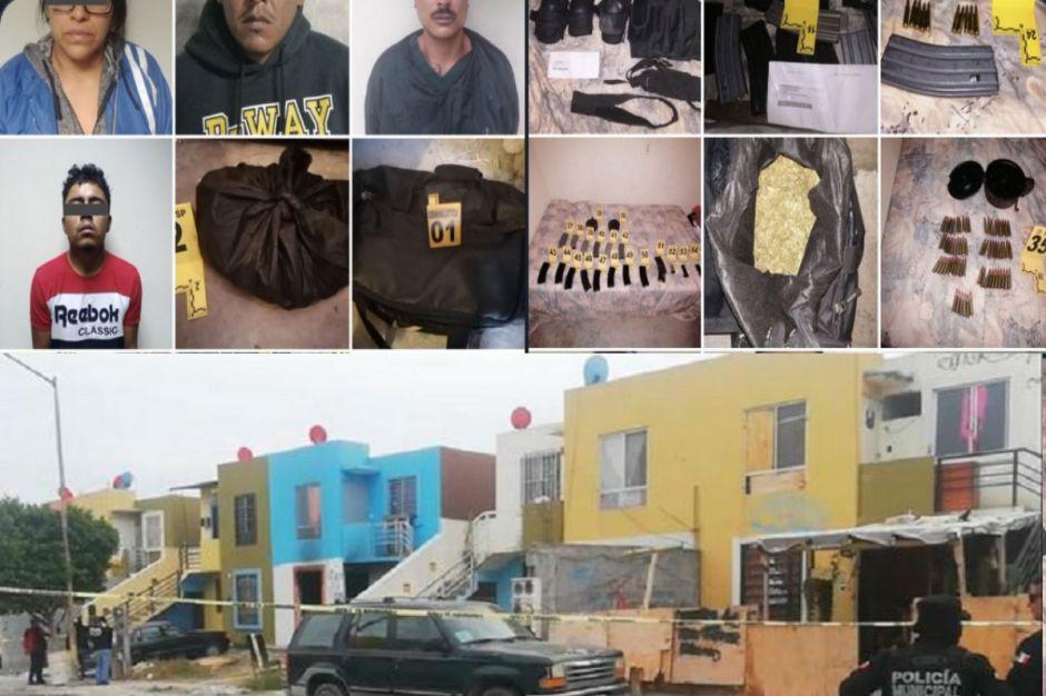 Rescatan a 3 que querían quemar vivos y decomisan arsenal en Nuevo León