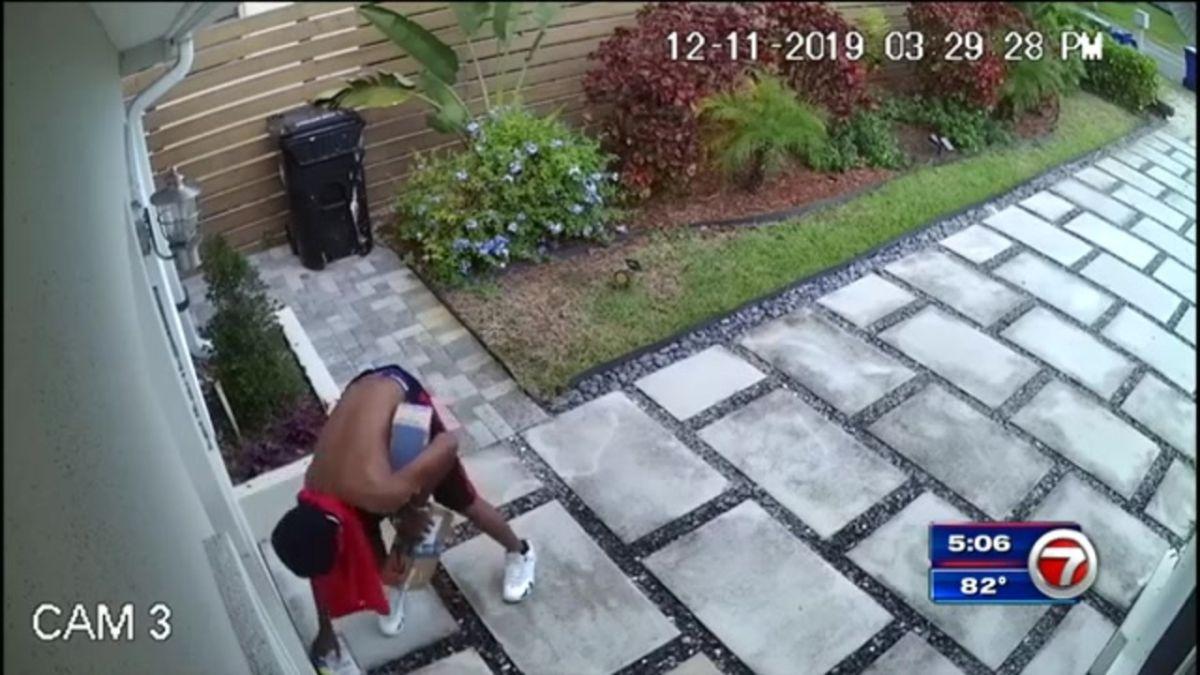 Robaba los paquetes de Amazon hasta que un vecino decidió sorprender al ladrón