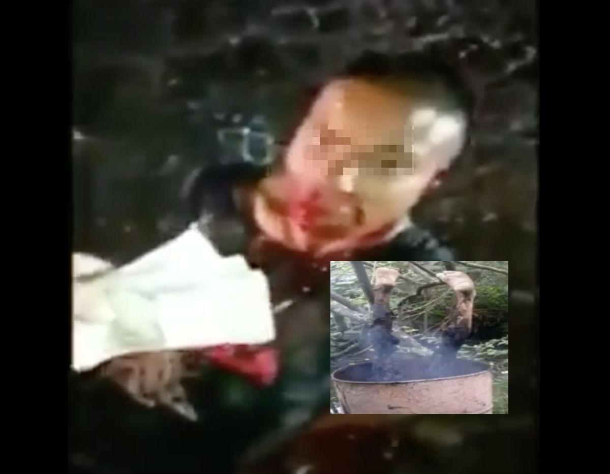 VIDEO: CJNG y Los Metros interrogan y queman a joven por ser del Cártel del Noreste