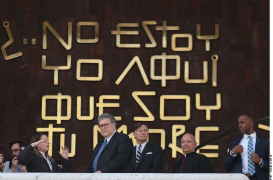 William Barr, fiscal de Estados Unidos visitó la Basílica de Guadalupe, en México