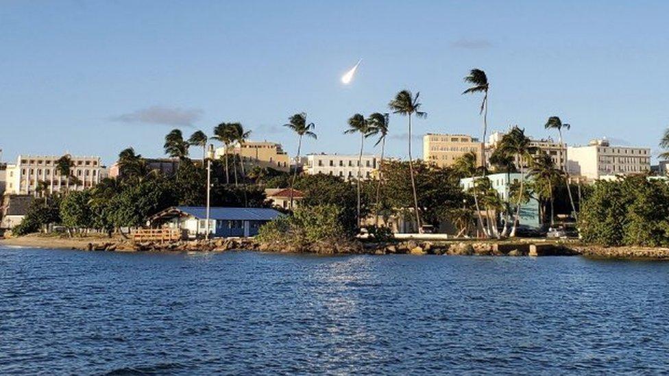 El meteoro se vio desde casi toda la isla, según los reportes.