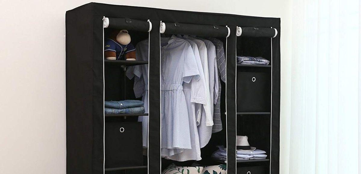 6 armarios portátiles para organizar tu ropa si tienes poco espacio