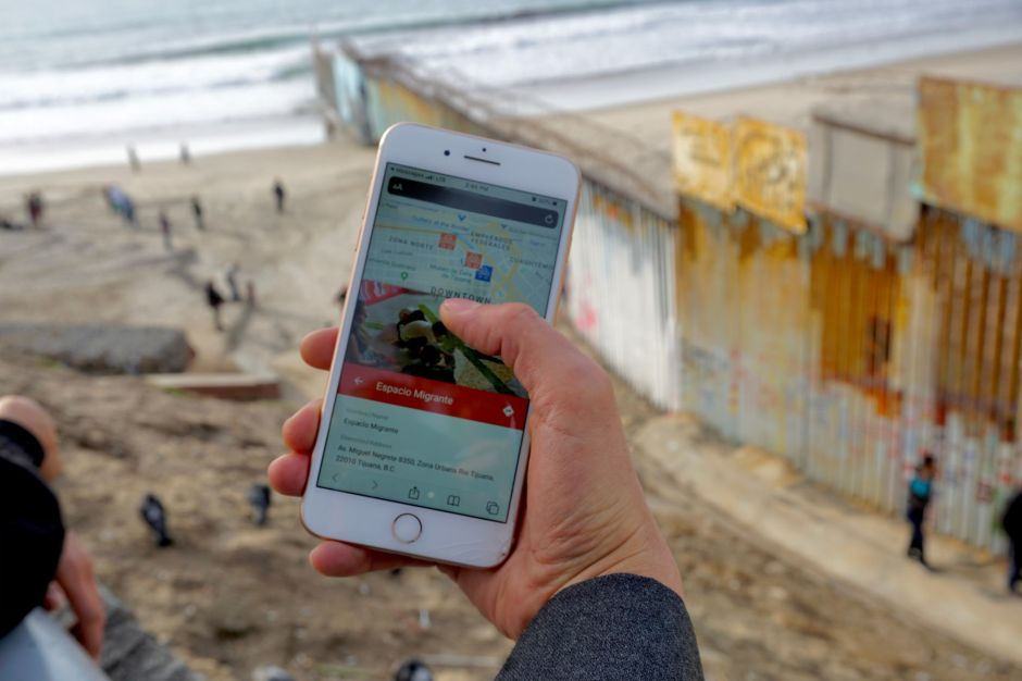Migri Map, una aplicación para orientar a migrantes, deportados y refugiados en Tijuana