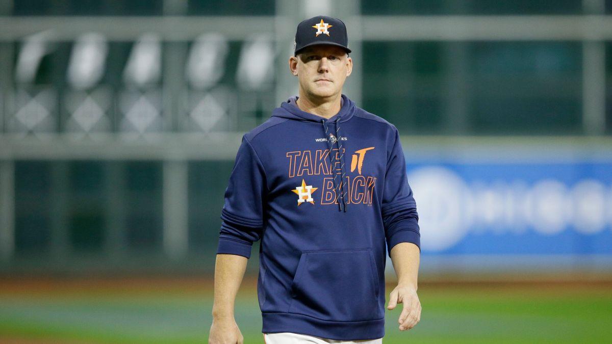A.J. Hinch ex manager de los Astros de Houston.