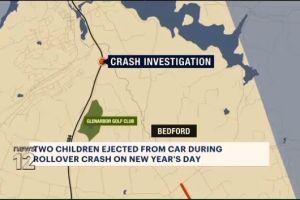 Dos niños hispanos salieron disparados de auto que volcó en Nueva York