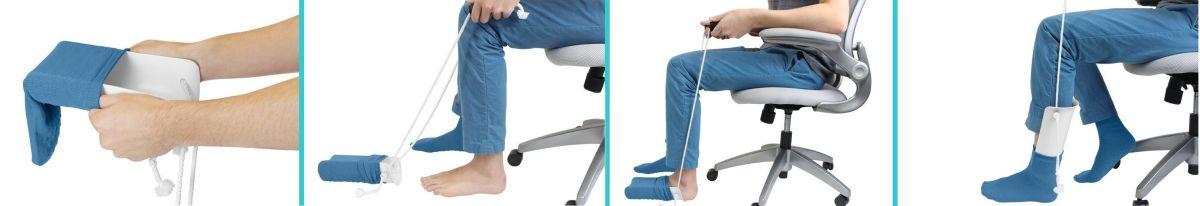 3 opciones de calzadores de calcetines para personas con movilidad limitada