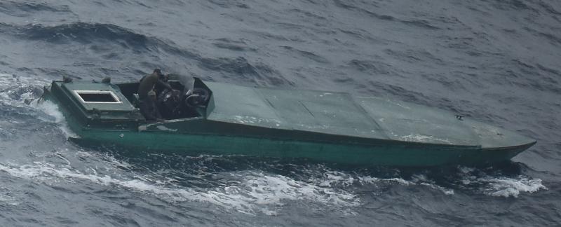 Un bote rápido cargado con 1,665 kilos de cocaína.