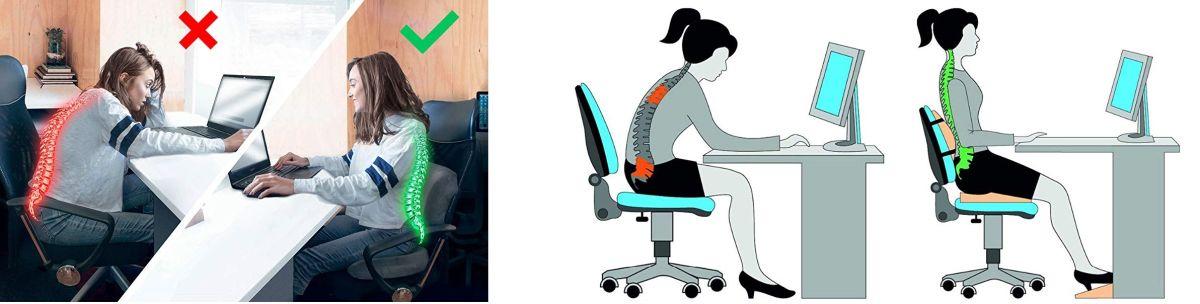 3 cojines anatómicos para evitar dolores de espalda en el trabajo