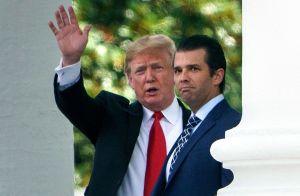 Desata burlas foto que muestra el extraño parecido de la novia de Donald Trump Jr. con Melania