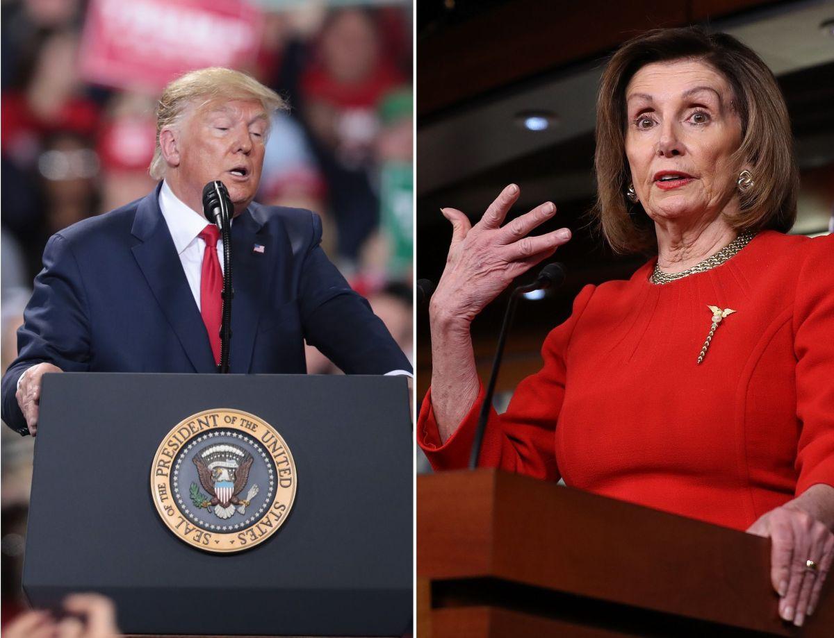 El presidente Donald Trump y la presidenta de la Cámara, Nancy Pelosi.