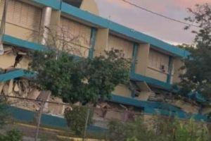 Sismo en Puerto Rico deja en escombros escuela en Guánica