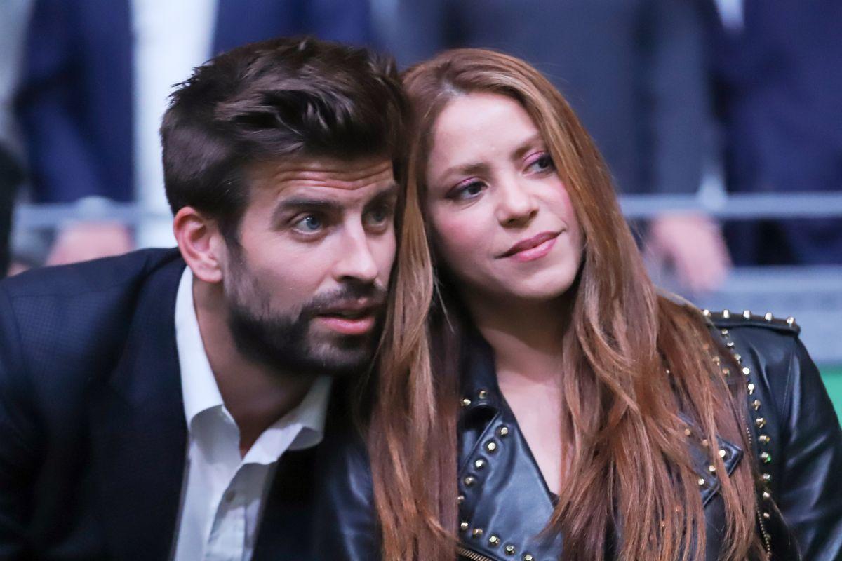 Shakira y Piqué en la final de la Copa Davis.