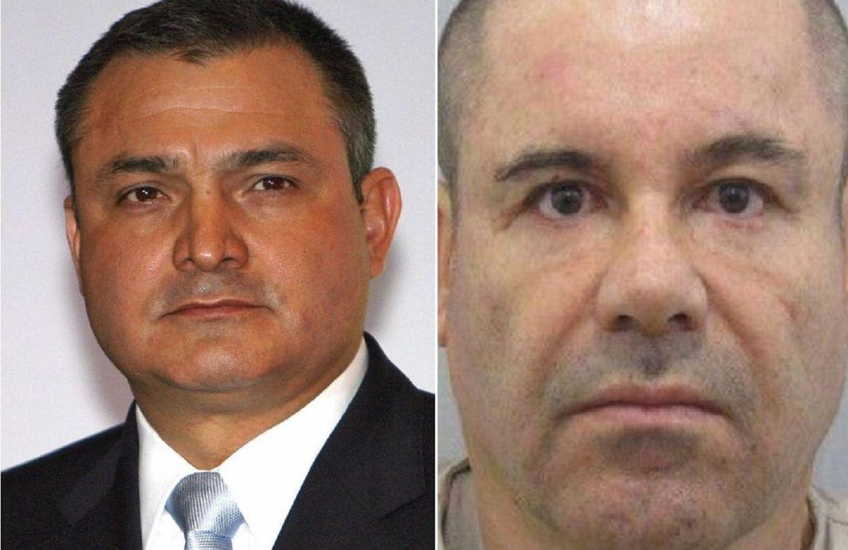 """Genaro García Luna y Joaquín """"El Chapo"""" Guzmán Loera."""