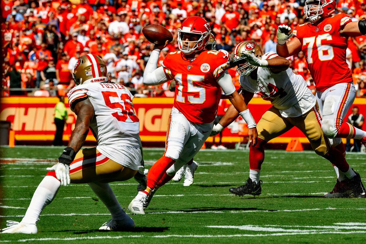 Los Chiefs vencieron a los 49ers el 23 de septiembre de 2018 por 38-27.