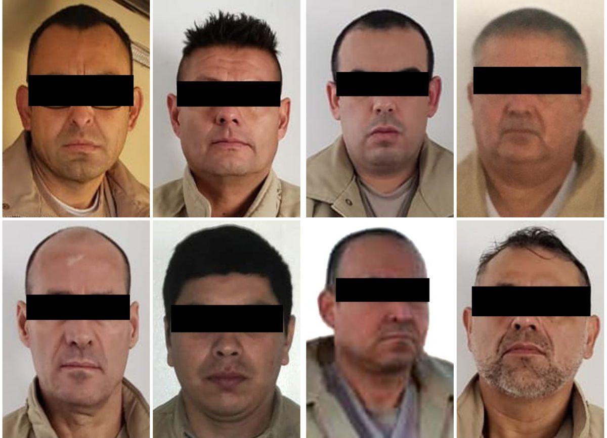 Los ocho fueron apresados en territorio mexicano.