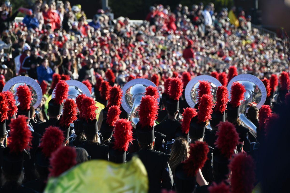 Foto de archivo del Desfile de las Rosas de Pasadena.