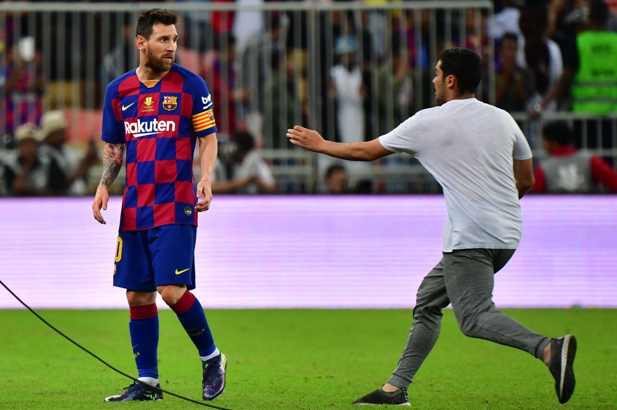 Aficionado le mete un sustazo a Lio Messi en Arabia Saudita