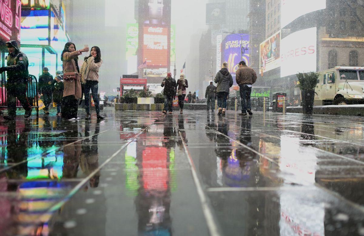 Lluvia y aguanieve podría impactar a Nueva York.