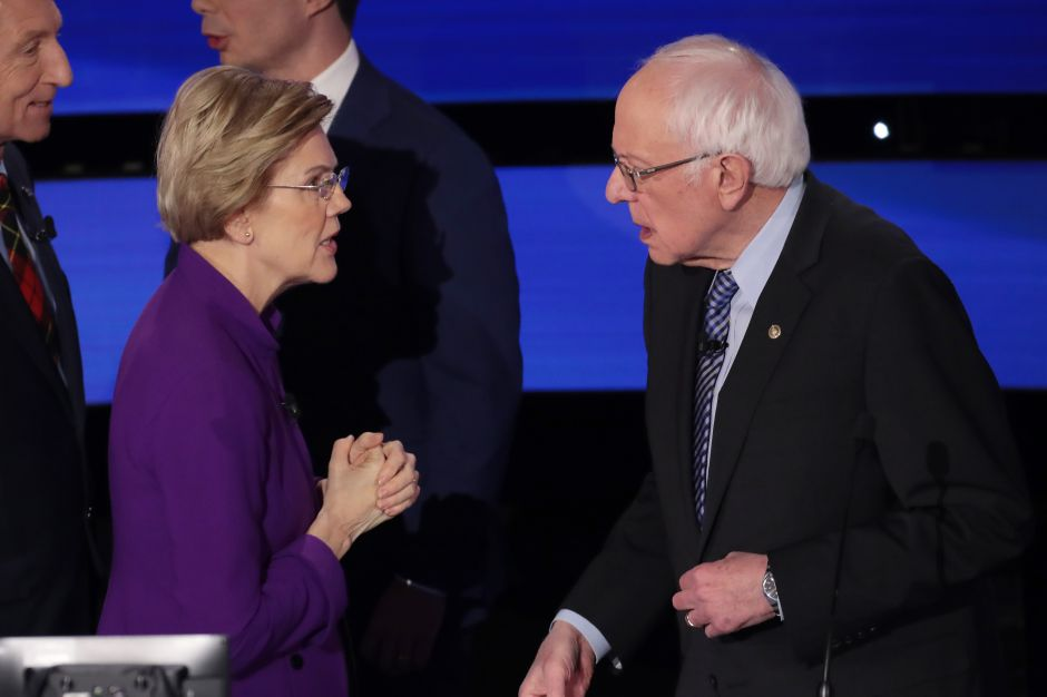 """""""Me llamaste mentirosa"""". La discusión en directo de Sanders y Warren tras debate demócrata"""