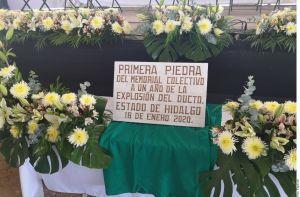 A un año de la explosión en Tlahuelilpan, recuerdan a víctimas con memorial