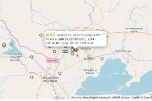 Un terremoto de 5.3 causa algunos daños en Oaxaca