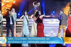 """¡Es un fraude! Hay una corrupción inmensa en México"""": Miss Colombia armó un escándalo en pleno escenario"""