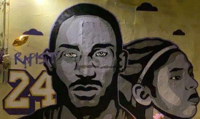 El mural  desfigurado.