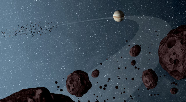"""Júpiter está arrojando asteroides a la Tierra """"como un francotirador"""""""