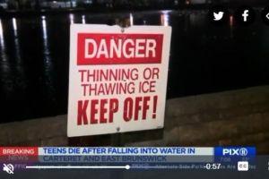 Dos niños mueren jugando al caer en aguas congeladas en Nueva Jersey