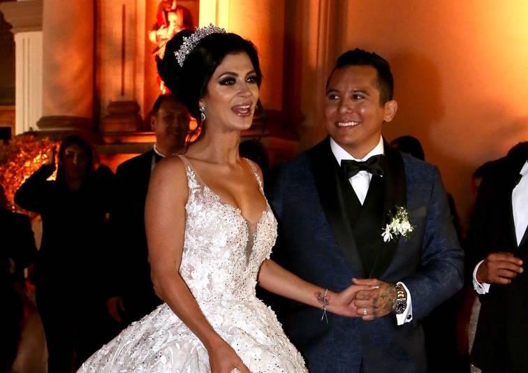 Kimberly Flores y Edwin Luna.
