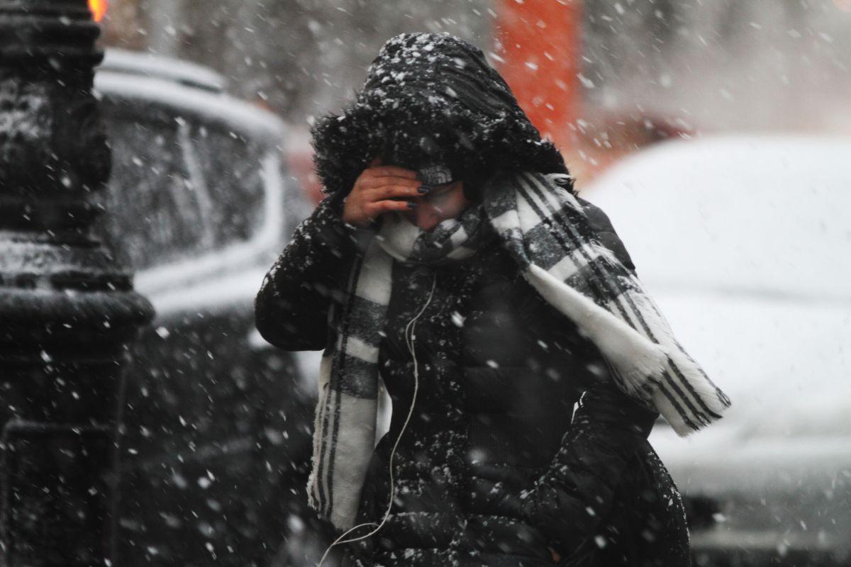 Los meteorólogos prevén que la tormenta deje nevadas.