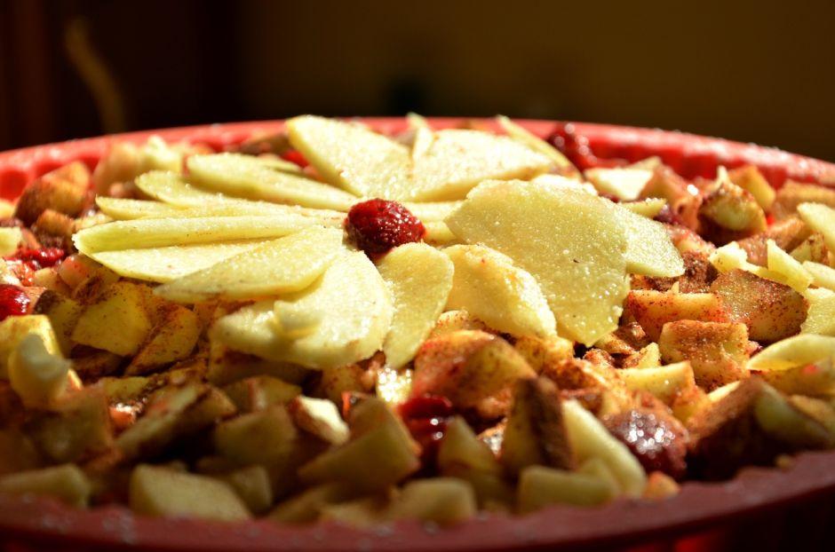 Tarta de manzana baja en calorías, saludable para el corazón