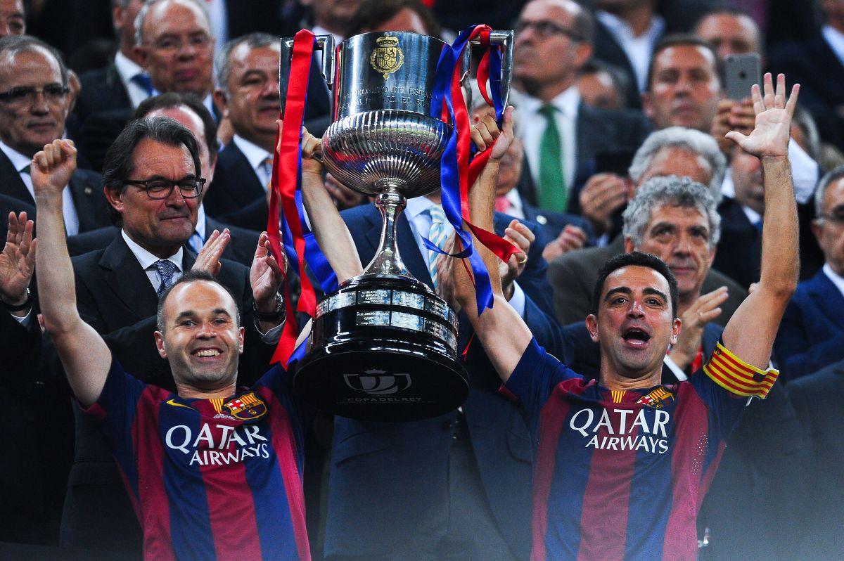 Xavi Hernández y Andrés Iniesta en los mejores años del Barcelona.