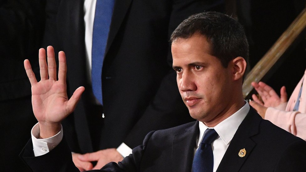 La larga ovación a Juan Guaidó en el discurso del Estado de la Unión de Trump
