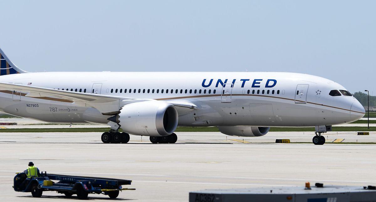 Un avión de United Airlines.