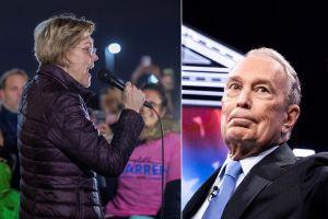 Duro derechazo de Elizabeth Warren a Bloomberg al inicio del debate demócrata en Las Vegas