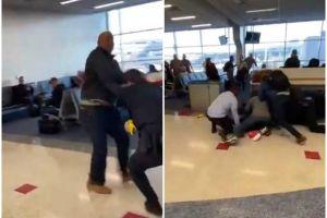 Pasajero en aeropuerto de Texas reparte golpes en terminal porque le pidieron que no fumara