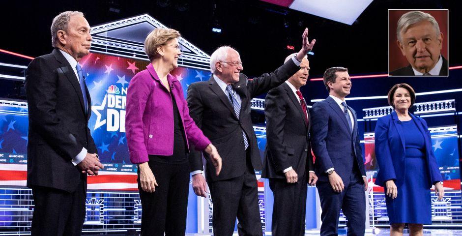 López Obrador se vuelve protagonista en el debate demócrata en Las Vegas
