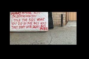 FOTO: El furioso mensaje que la esposa engañada escribió en el colchón donde el marido le fue infiel