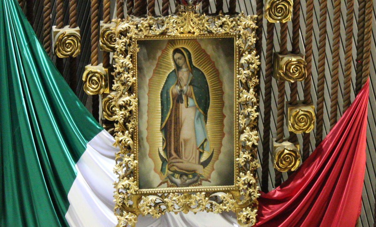 La Virgen de Guadalupe es muy popular en México.