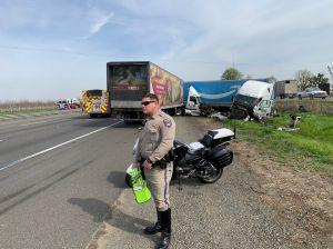 Gran accidente de tránsito con un camión de Amazon en el condado de Solano cierra temporalmente la I-80