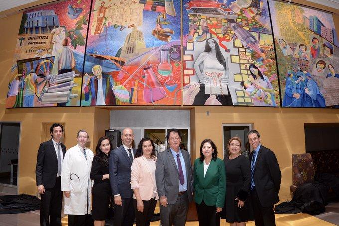 Develan mural que representa el pasado, presente y futuro del Hospital General de Los Ángeles